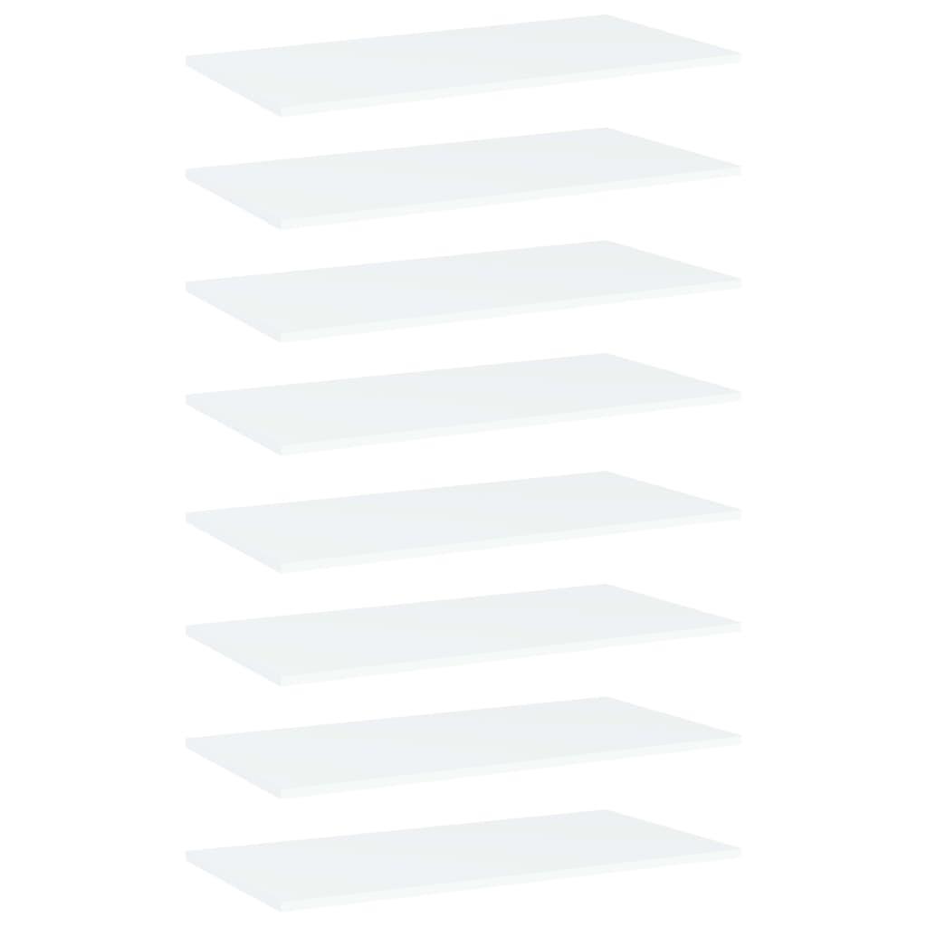 Bücherregal-Bretter 8 Stk. Weiß 80x40x1,5 cm Spanplatte