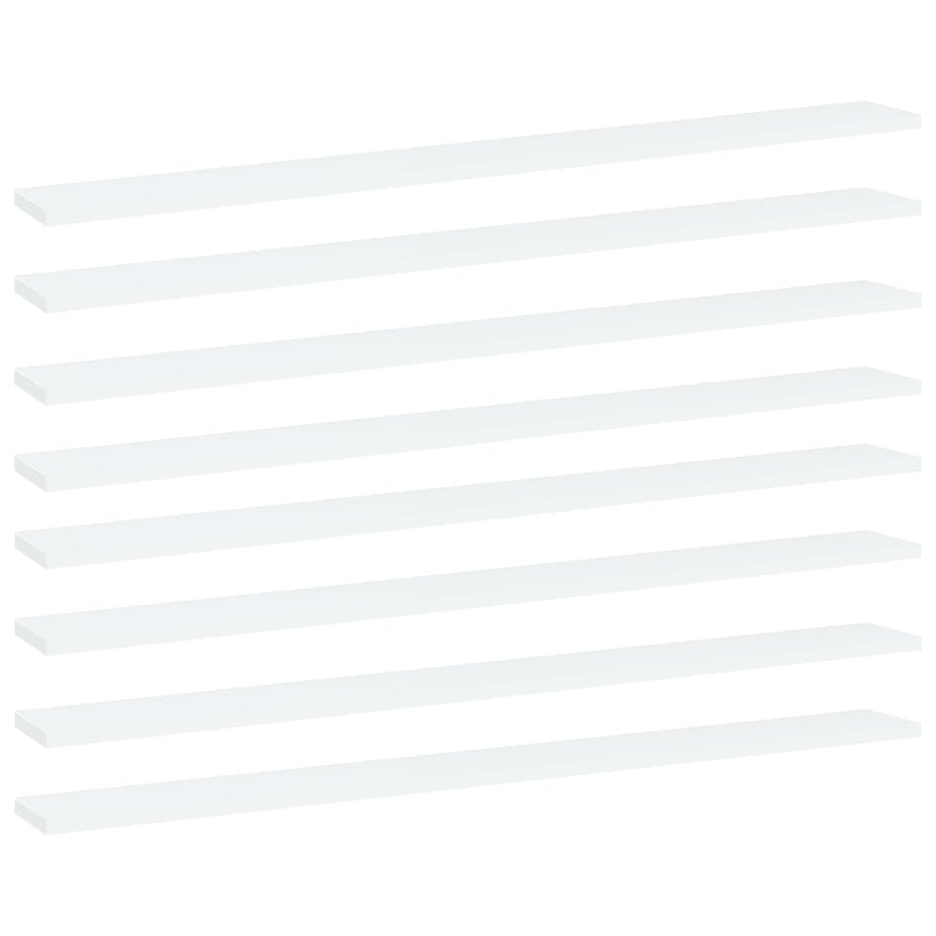 Bücherregal-Bretter 8 Stk. Weiß 100x10x1,5 cm Spanplatte