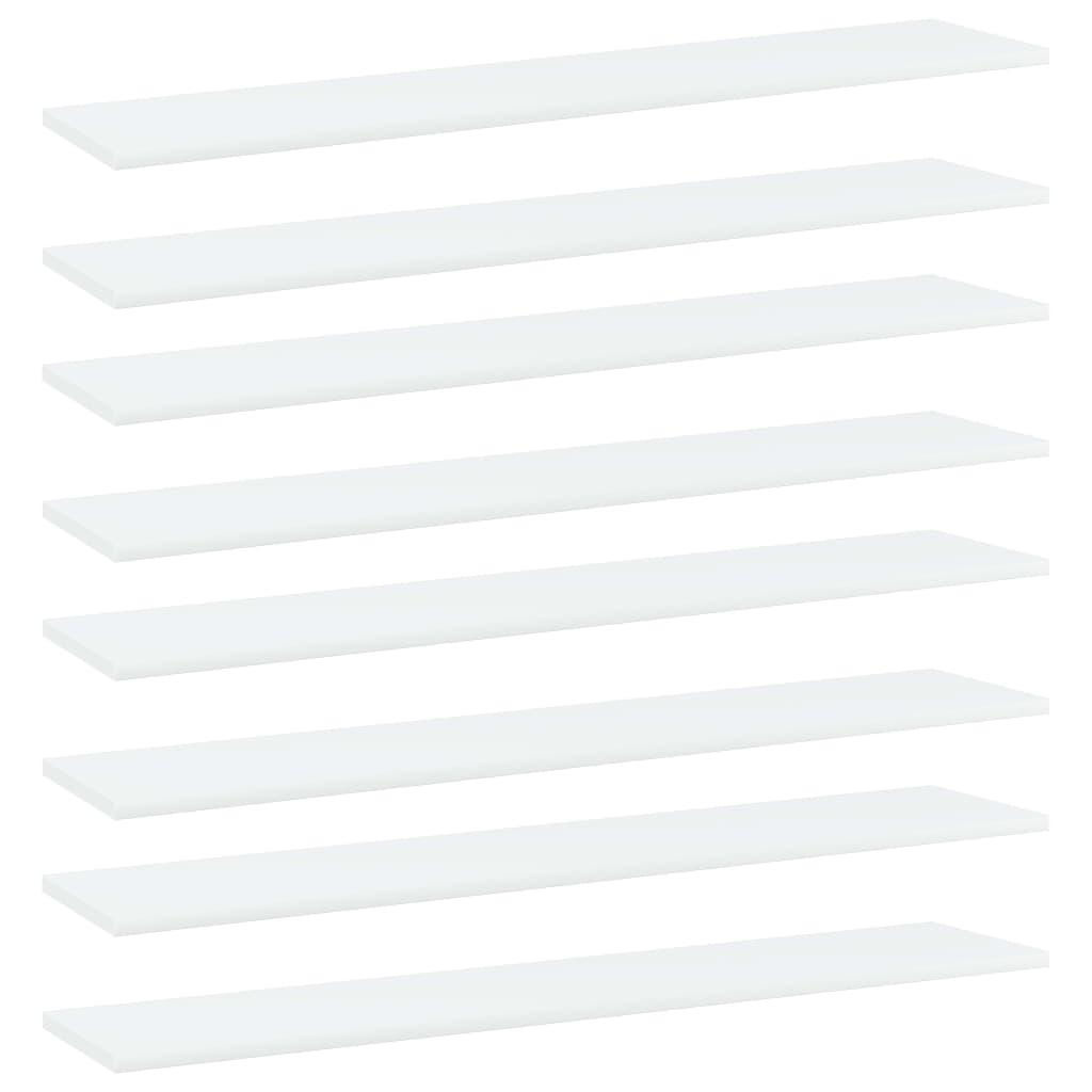 Bücherregal-Bretter 8 Stk. Weiß 100x20x1,5 cm Spanplatte