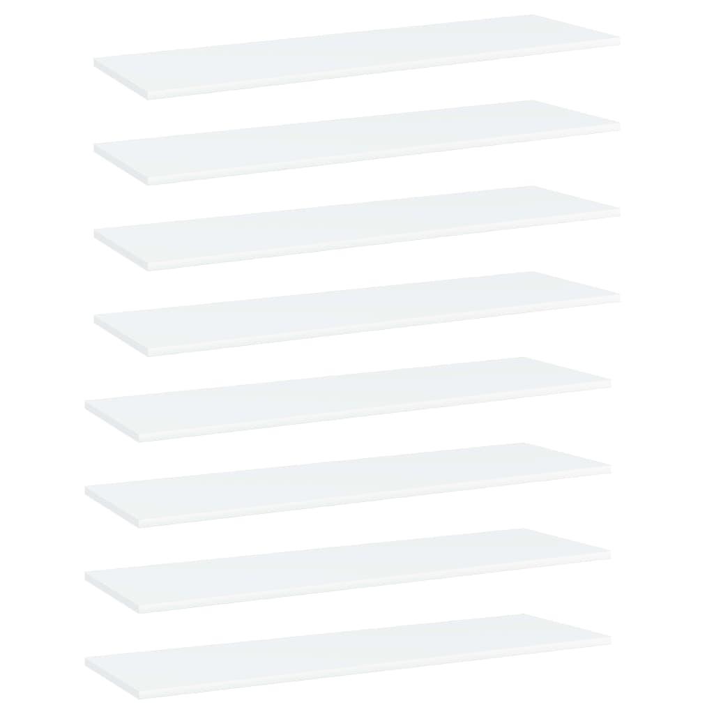 Bücherregal-Bretter 8 Stk. Weiß 100x30x1,5 cm Spanplatte