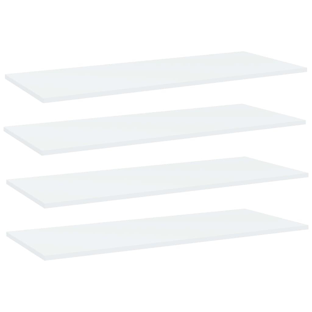 Bücherregal-Bretter 4 Stk. Weiß 100x40x1,5 cm Spanplatte