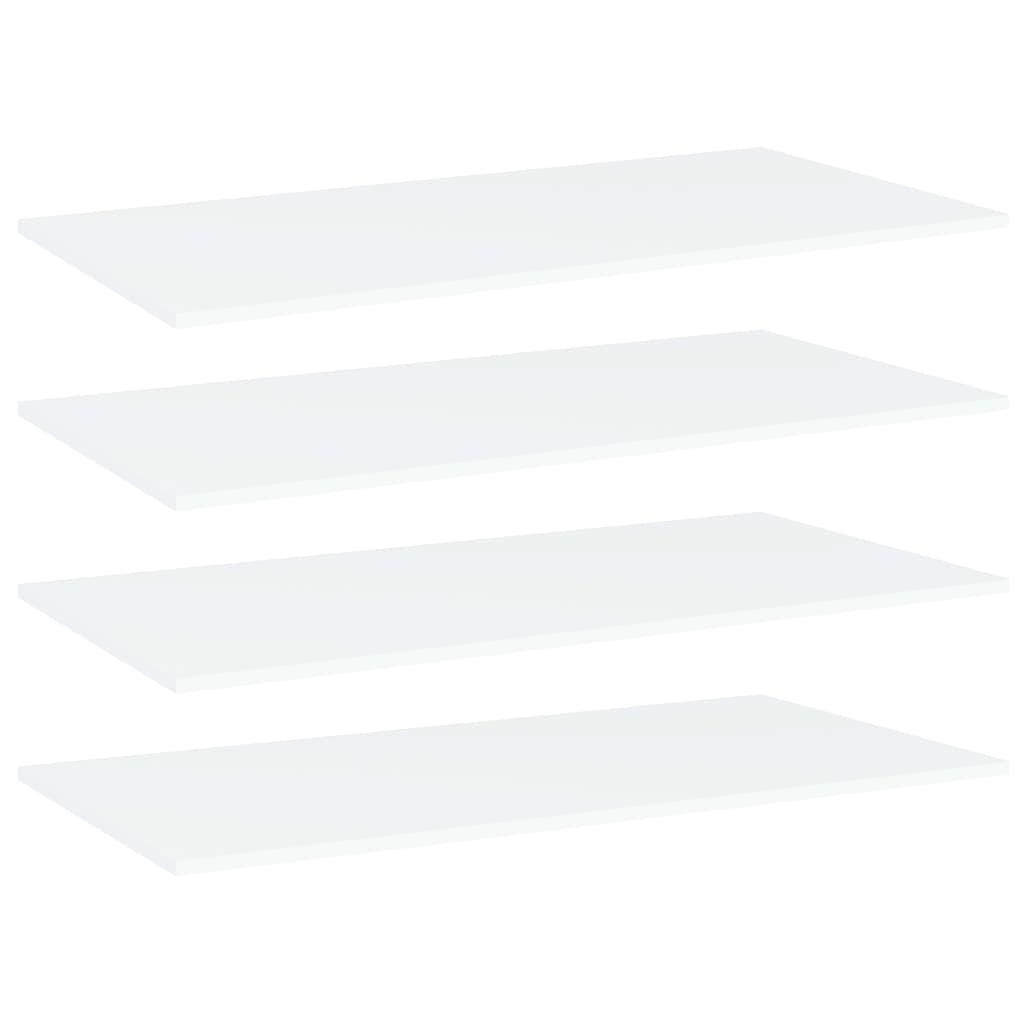 Bücherregal-Bretter 4 Stk. Weiß 100x50x1,5 cm Spanplatte