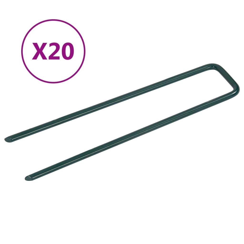 Nägel für Kunstrasen 20 Stk. U-Form Eisen
