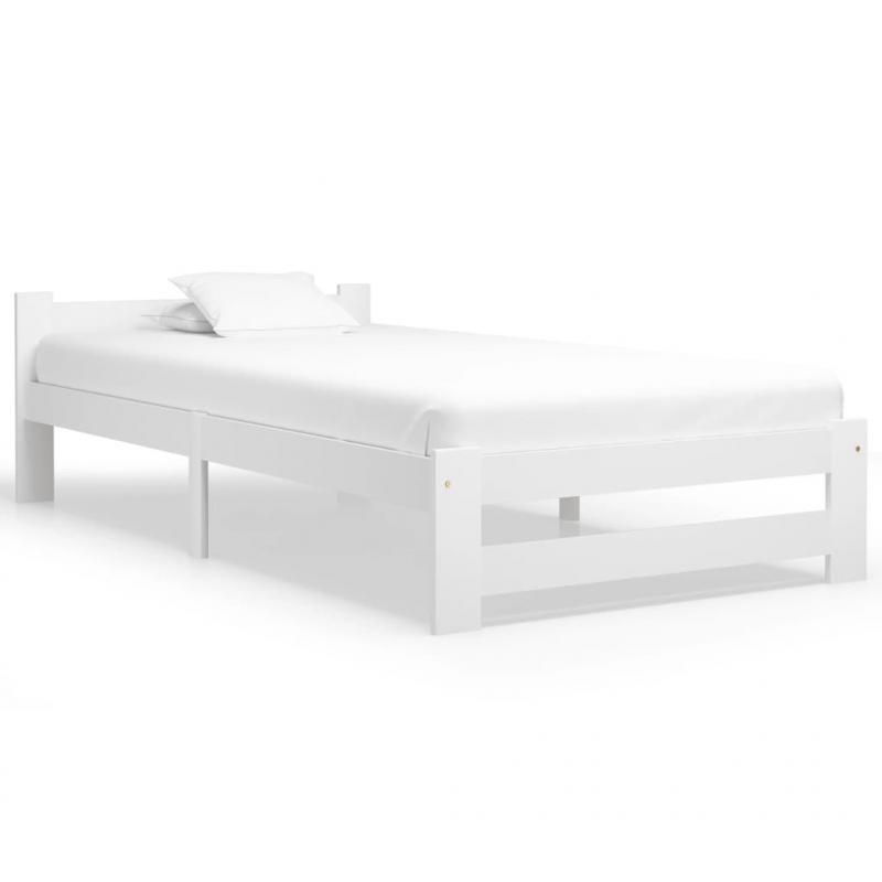 Bettgestell Weiß Massivholz Kiefer 90x200 cm