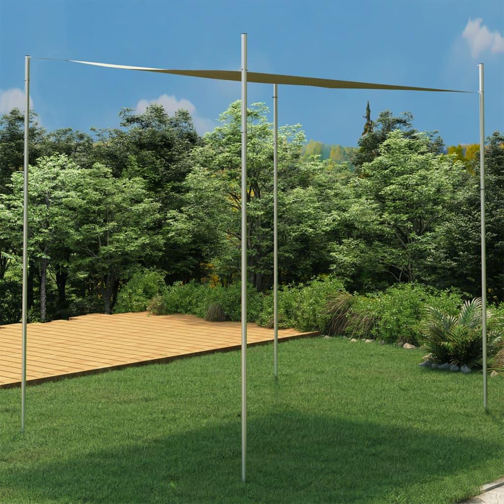 Sonnensegel-Stange 400 cm Edelstahl