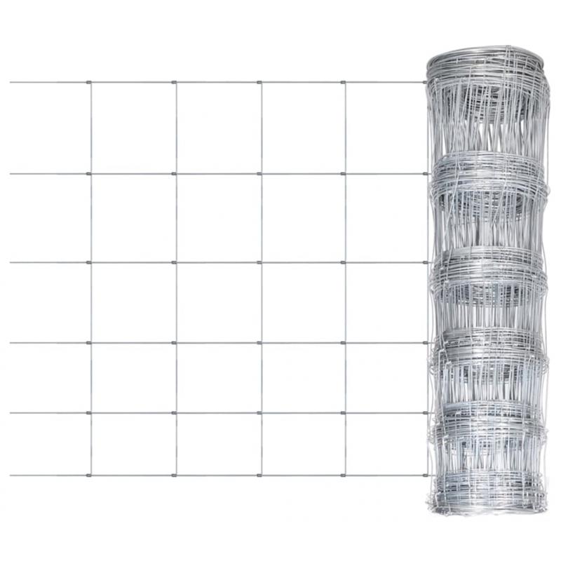 Gartenzaun Verzinkter Stahl Silbern 50x0,8 m