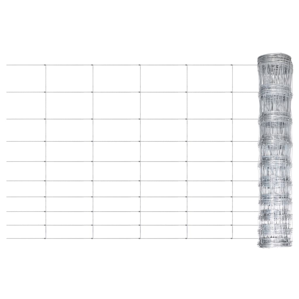 Gartenzaun Verzinkter Stahl Silbern 50x1 m