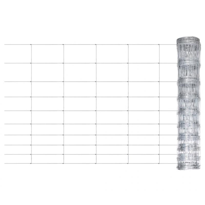 Gartenzaun Verzinkter Stahl Silbern 50x1,2 m