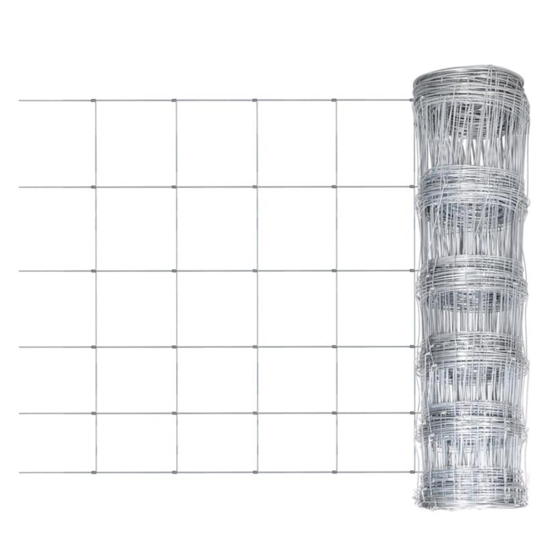 Gartenzaun Verzinkter Stahl 50x1,5 m Silbern