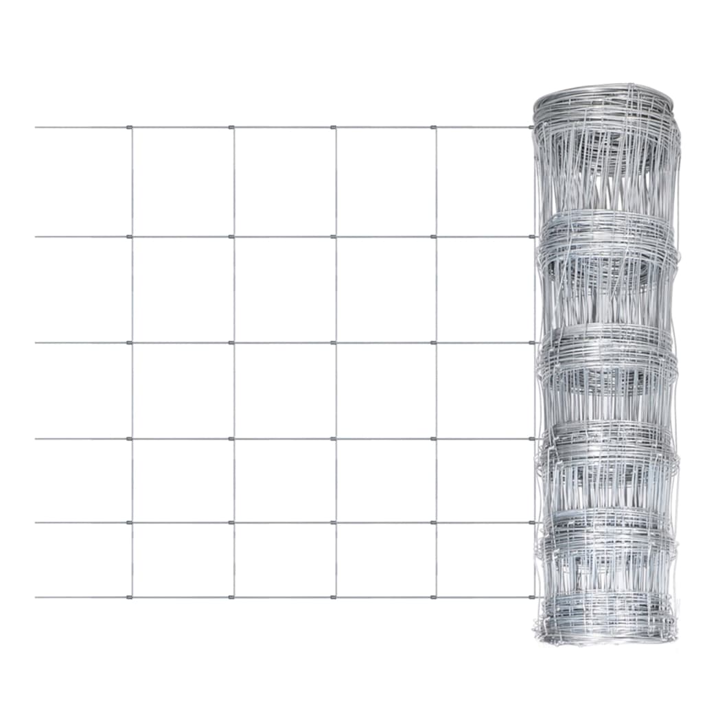 Gartenzaun Verzinkter Stahl 50x1 m Silbern