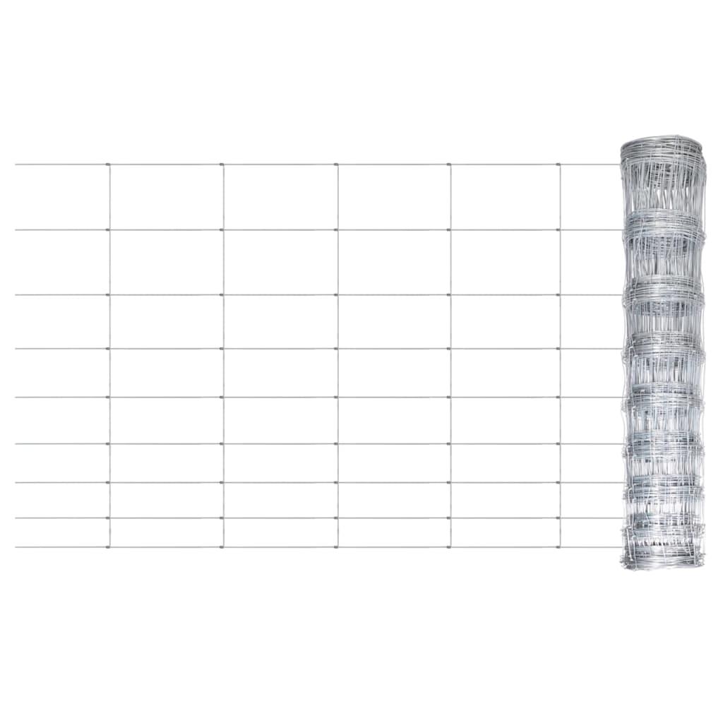 Gartenzaun Verzinkter Stahl 50x1,2 m Silbern