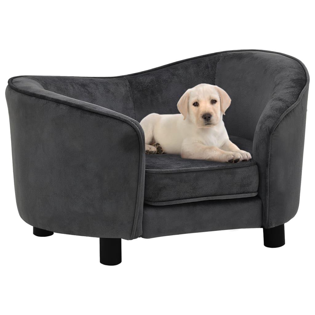 Hundesofa Dunkelgrau 69x49x40 cm Plüsch