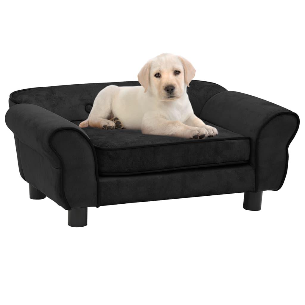 Hundesofa Schwarz 72x45x30 cm Plüsch