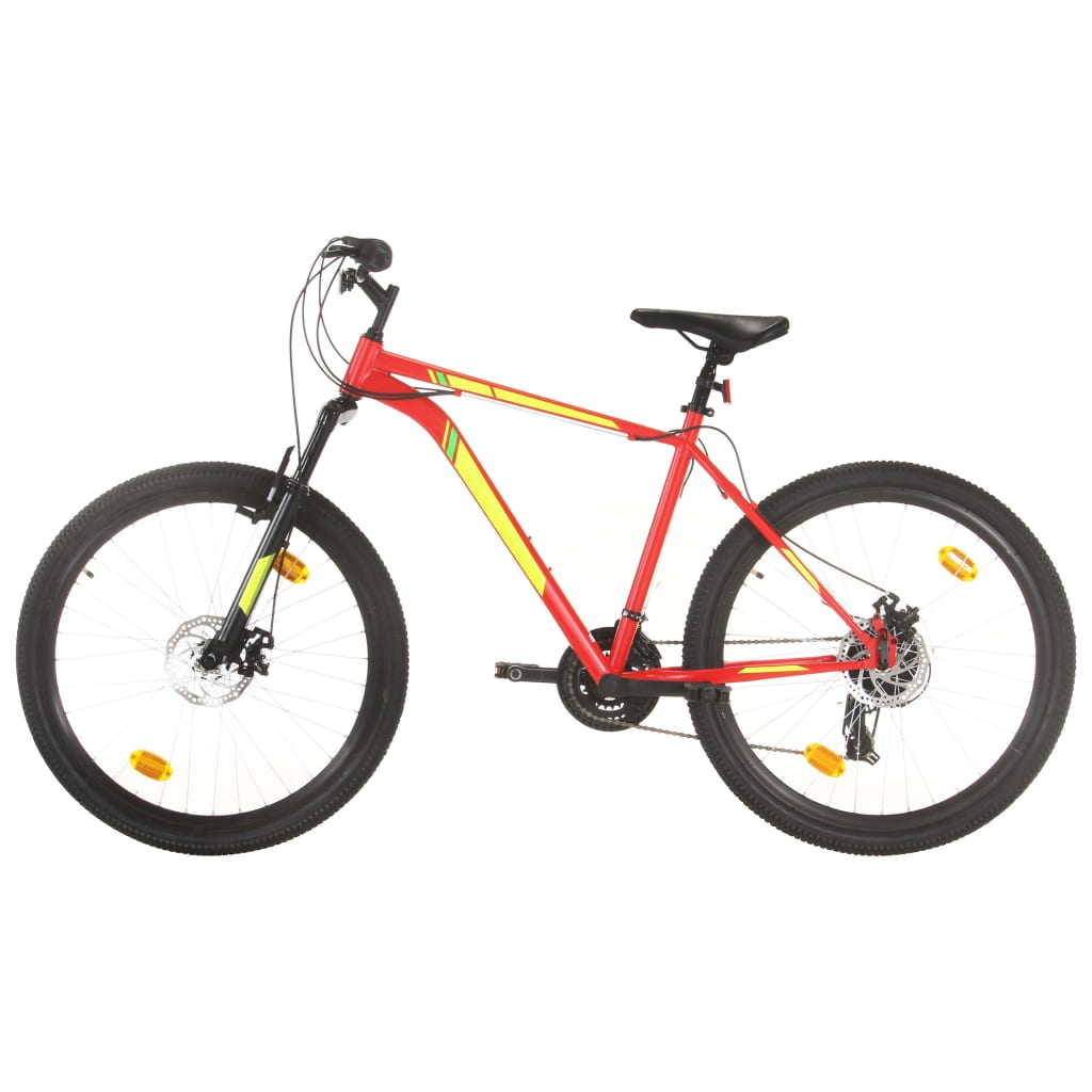 Mountainbike 21 Gang 27,5 Zoll Rad 50 cm Rot