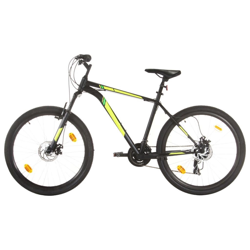 Mountainbike 21 Gang 27,5 Zoll Rad 50 cm Schwarz
