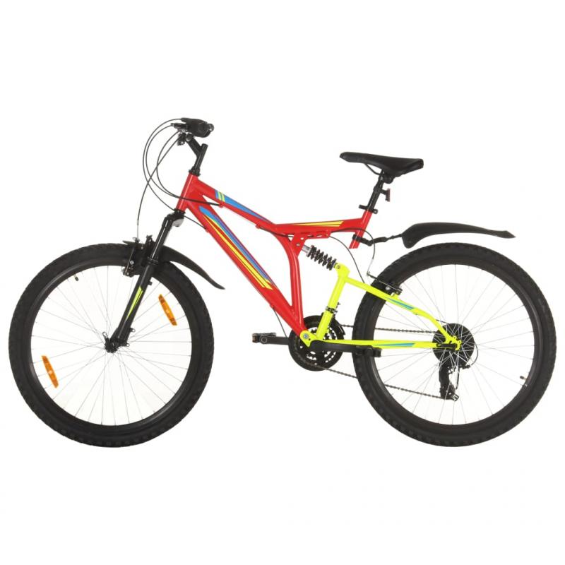 Mountainbike 21 Gang 26 Zoll Rad 49 cm Rot