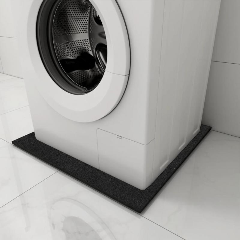 Antivibrationsmatte für Waschmaschine Schwarz 60x60x0,6 cm