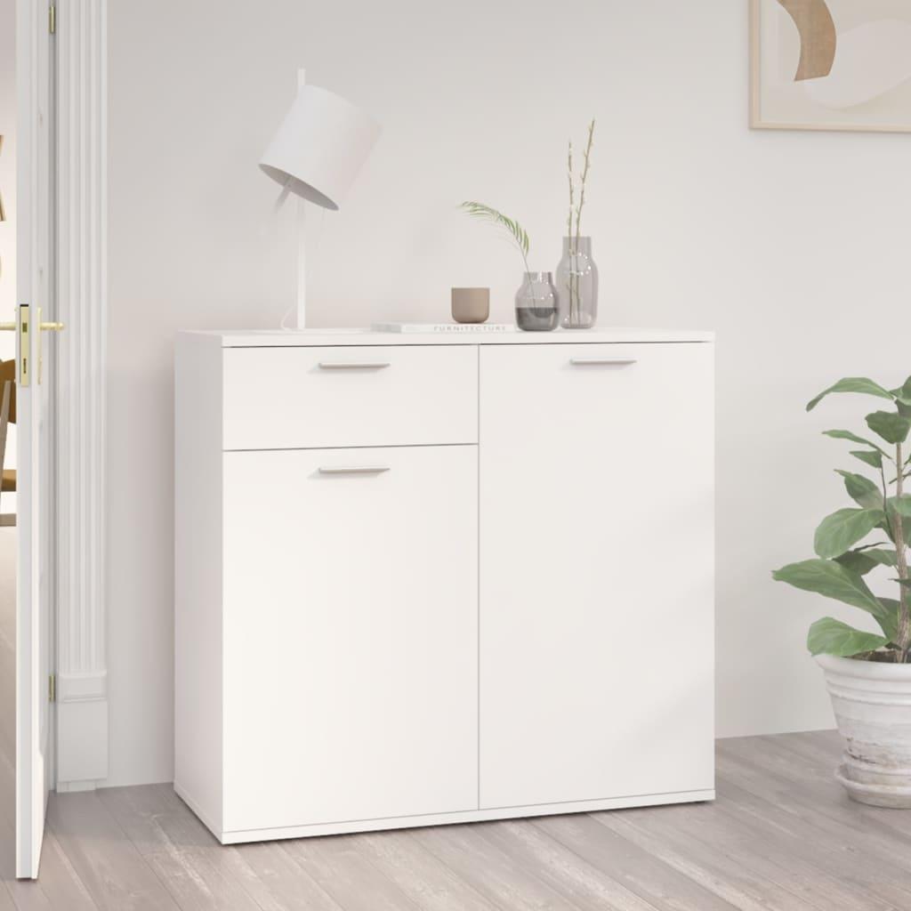 Sideboard Weiß 80x36x75 cm Spanplatte