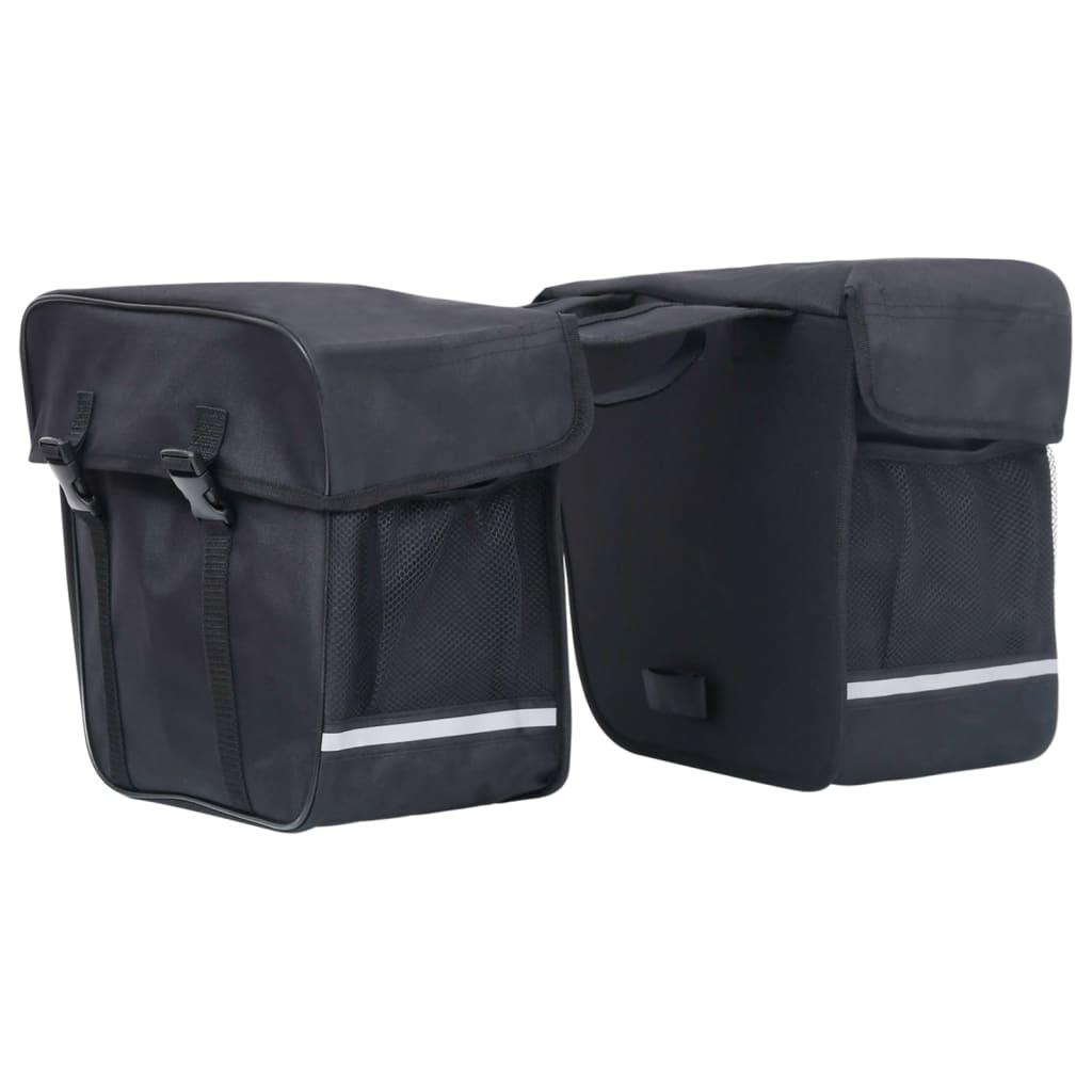 Doppel-Fahrradtasche für Gepäckträger Wasserdicht 35 L Schwarz