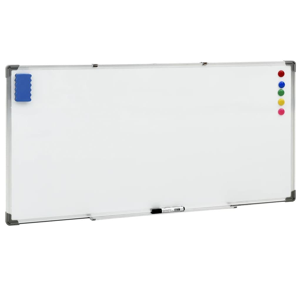 Magnetisches Whiteboard Weiß 110x60 cm Stahl