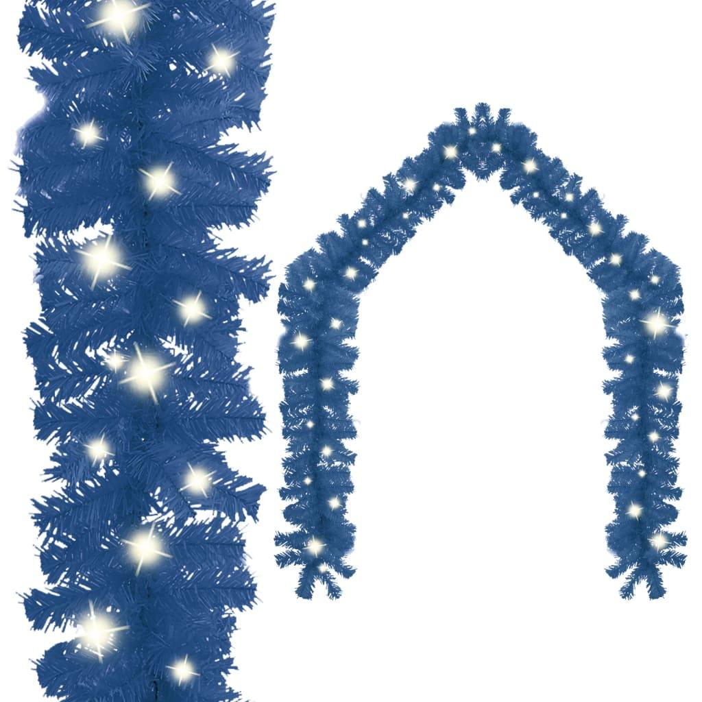 Weihnachtsgirlande mit LED-Lichtern 10 m Blau