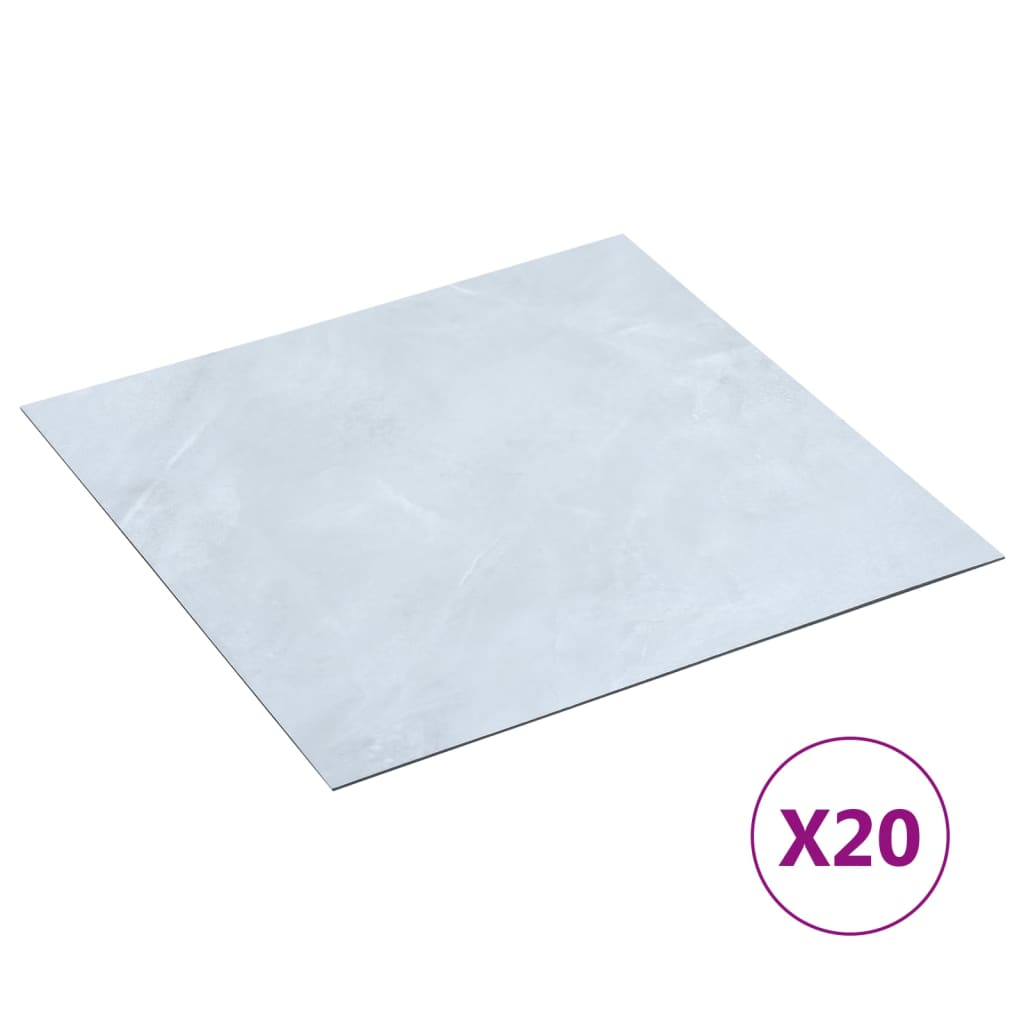 PVC-Fliesen Selbstklebend 20 Stk. 1,86 m² Weißer Marmor