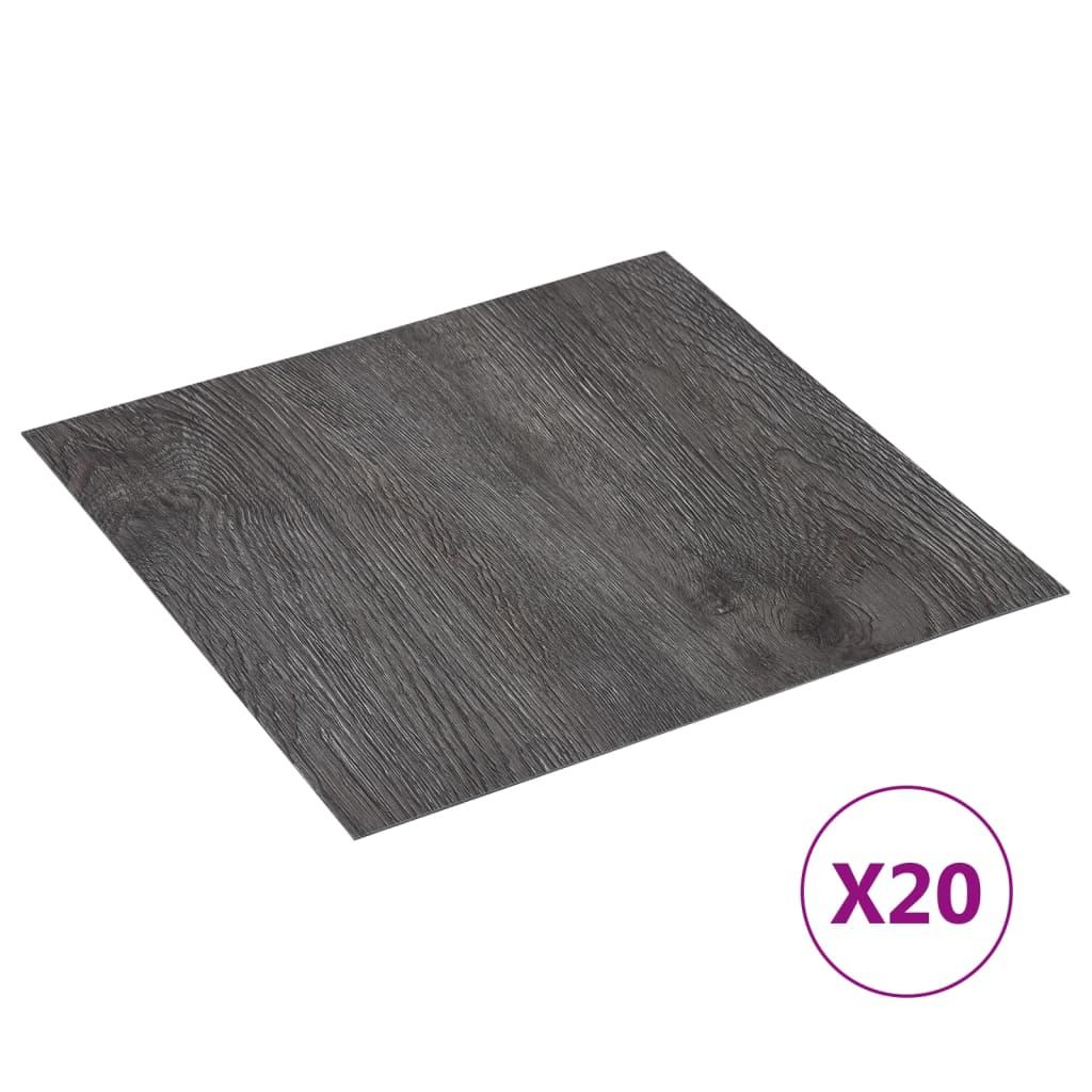 PVC-Fliesen Selbstklebend 20 Stk. 1,86 m² Braun