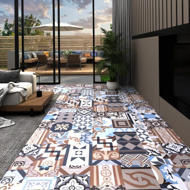 PVC-Fliesen Selbstklebend 20 Stk. 1,86 m² Mono-Muster