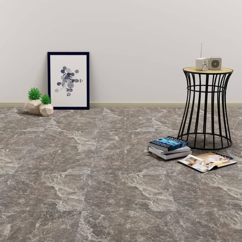 PVC-Fliesen Selbstklebend 20 Stk. 1,86 m² Schwarzer Marmor