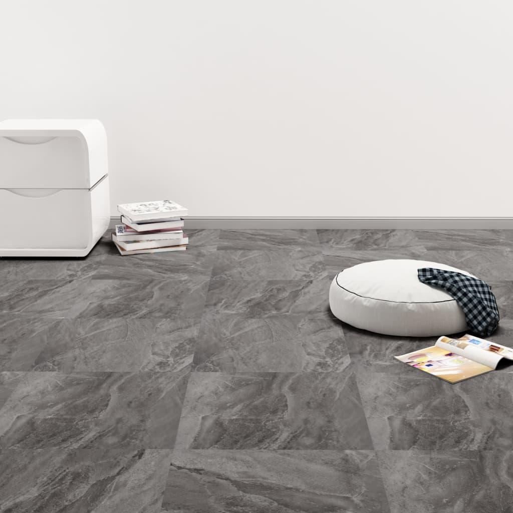 PVC-Fliesen Selbstklebend 20 Stk. 1,86 m² Schwarzes Muster