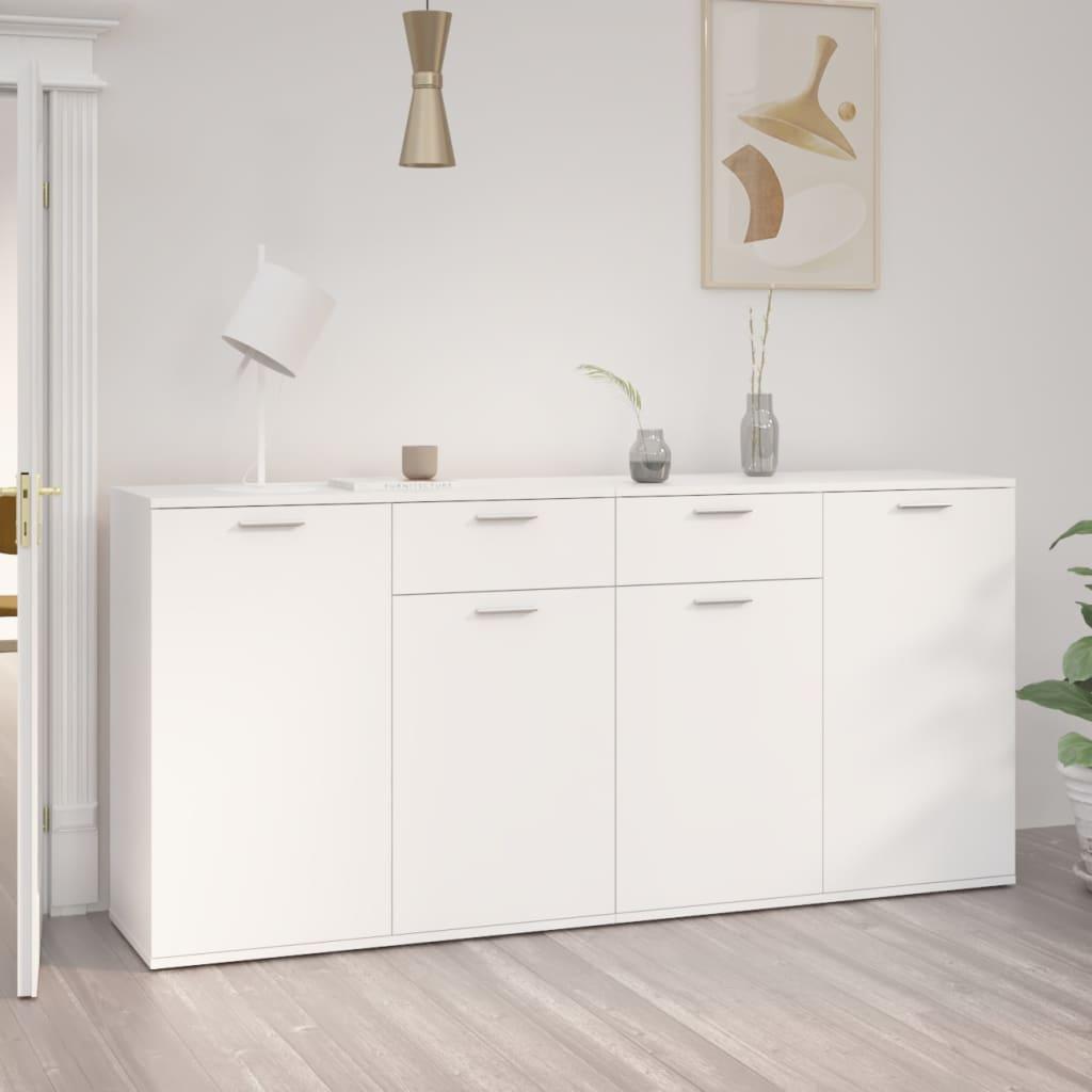 Sideboard Weiß 160x36x75 cm Spanplatte