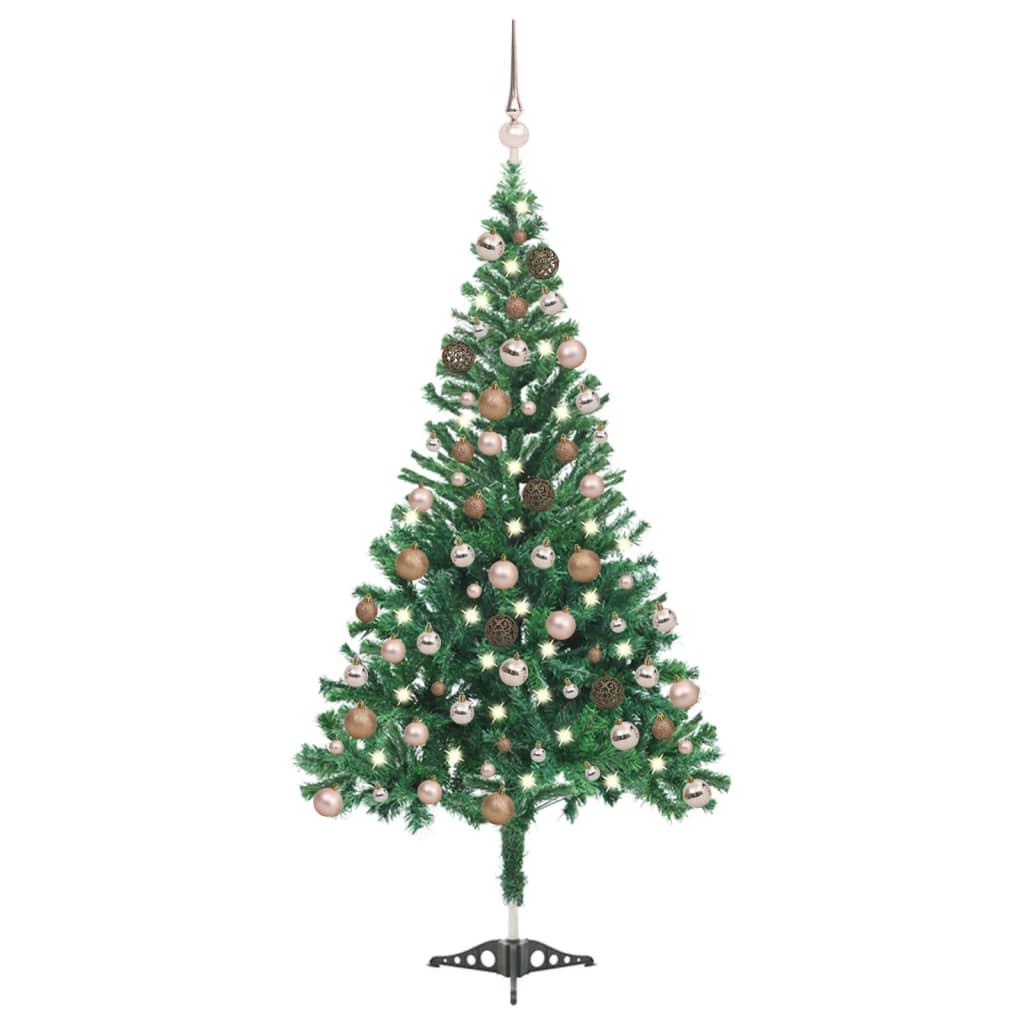 Künstlicher Weihnachtsbaum mit LEDs & Kugeln 120 cm 230 Zweige