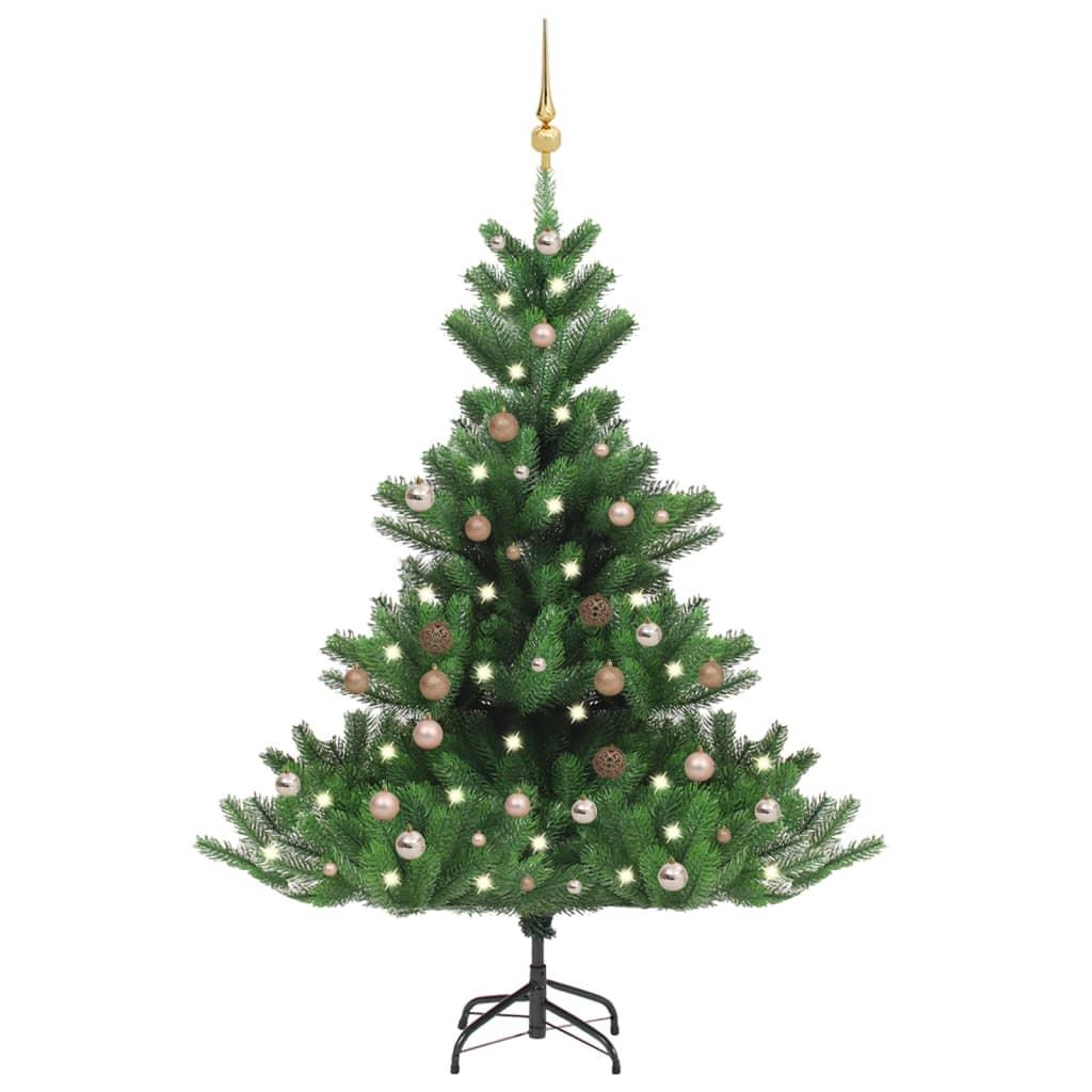 Künstlicher Weihnachtsbaum Nordmann LED & Kugeln Grün 180 cm