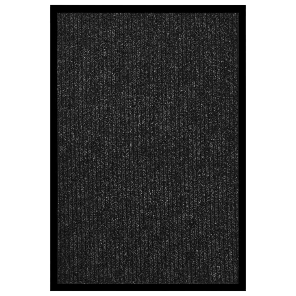 Fußmatte Gestreift 80x120 cm Anthrazit