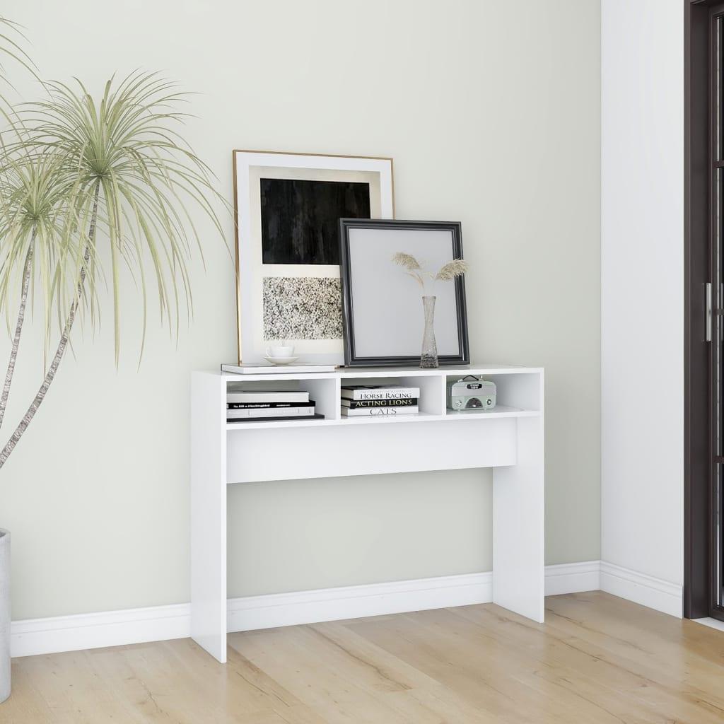 Konsolentisch Weiß 105x30x80 cm Spanplatte